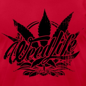 2 WeedLife - Vintage Black T-Shirts - Men's T-Shirt by American Apparel