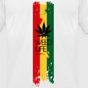 10 Rasta Life  T-Shirts - Men's T-Shirt by American Apparel