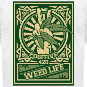 11 Positive 420 - Green T-Shirts - Men's T-Shirt by American Apparel