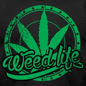 19 WeedLife Circle - Vintage Green  T-Shirts - Men's T-Shirt by American Apparel