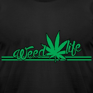 18 WeedLife Horizontal - Green T-Shirts - Men's T-Shirt by American Apparel