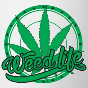19 WeedLife Circle - Solid Green Bottles & Mugs - Coffee/Tea Mug