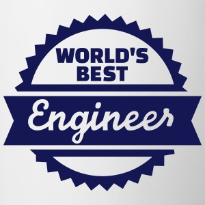 World's Best Engineer Bottles & Mugs - Contrast Coffee Mug