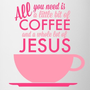 All you need is Coffee and Jesus Contrast Mug - Contrast Coffee Mug