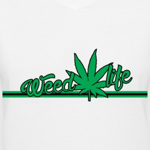18 WeedLife Horizontal - Green Women's T-Shirts - Women's V-Neck T-Shirt