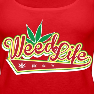 8 70's Weed - Red Tanks - Women's Premium Tank Top