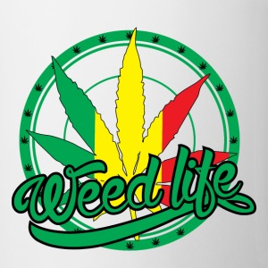 19 WeedLife Circle - Rasta  Bottles & Mugs - Coffee/Tea Mug