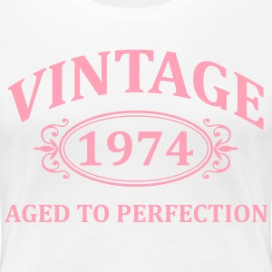 Vintage 1974 Aged to Perfection Women's T-Shirts - Women's Premium T-Shirt