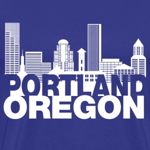 portland_oregon_skyline T-Shirts - Men's Premium T-Shirt