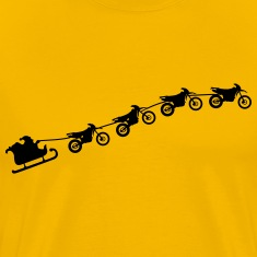 Christmas sleigh from flying dirt bikes Shirt