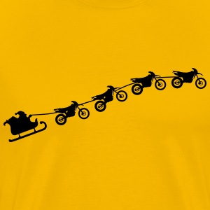 Christmas sleigh from flying dirt bikes Shirt - Men's Premium T-Shirt