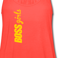 Design ~ BOSS GIRLS II - Women's Flowy Tank (Orange Print)