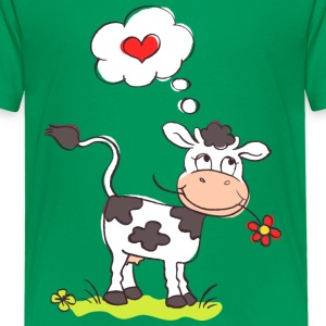 Cow in Love Kids' Shirts - Kids' Premium T-Shirt
