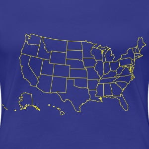 Map of the USA - Women's Premium T-Shirt