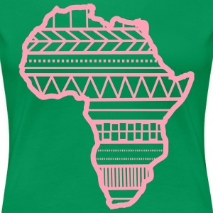 Africa pattern on map - Women's Premium T-Shirt