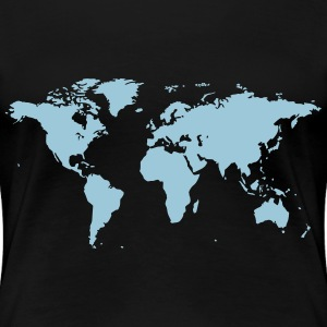 World Map - Women's Premium T-Shirt