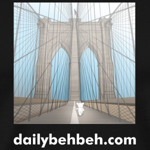 Daily Behbeh NYC Brooklyn Bridge Tshirt - Men's Premium T-Shirt