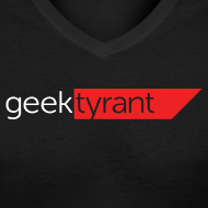 Design ~ Ladies V-Neck T-Shirt  // GeekTyrant RED Logo