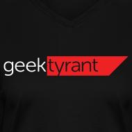 Design ~ Ladies V-Neck T-Shirt  // GeekTyrant RED Logo