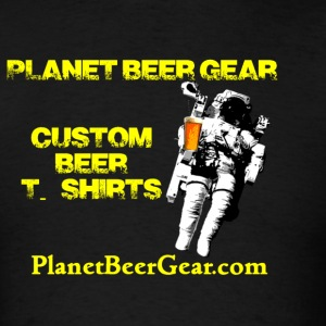 Planet Beer Gear Astronaut Logo Men's T-Shirt (Dou - Men's T-Shirt