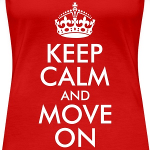 Keep Calm and Move On Women's T-Shirts - Women's Premium T-Shirt