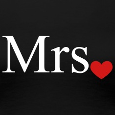 Mrs with heart dot (Mr and Mrs set) Women's T-Shirts