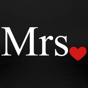 Mrs with heart dot (Mr and Mrs set) Women's T-Shirts - Women's Premium T-Shirt