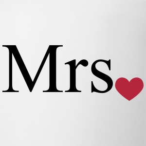 Mrs with heart dot (Mr and Mrs set) Bottles & Mugs - Coffee/Tea Mug