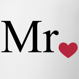 Mr with heart dot (Mr and Mrs set) Bottles & Mugs - Coffee/Tea Mug