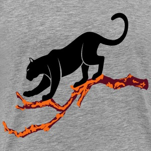 panther on branch T-Shirts - Men's Premium T-Shirt