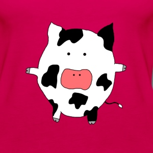 Funky Moo Cow - Women's Premium Tank Top