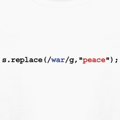 replace war with peace Kids' Shirts