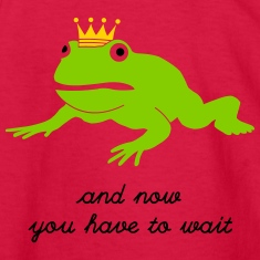 grumpy frog prince - waiting Kids' Shirts