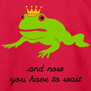 grumpy frog prince - waiting Kids' Shirts - Kids' Long Sleeve T-Shirt