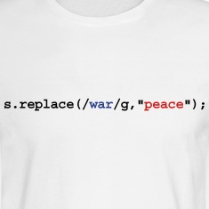 replace war with peace Long Sleeve Shirts