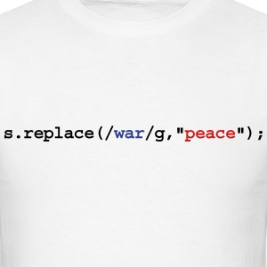 replace war with peace T-Shirts - Men's T-Shirt