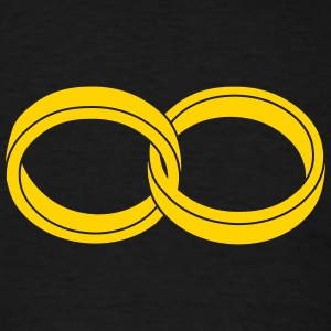 wedding rings - like a symbol of infinity T-Shirts - Men's T-Shirt
