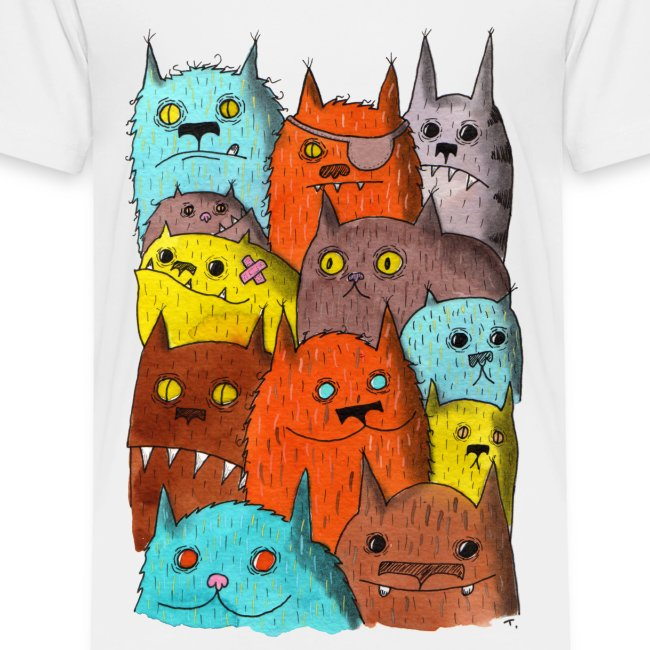 The Cats of Meow Toddler Tee