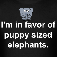 Design ~ puppy sized elephants shirt