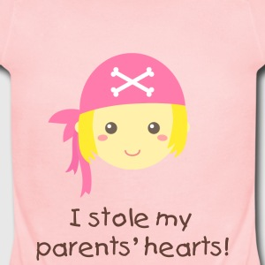 cute pirate crew girl with pink bandana Baby & Toddler Shirts - Short Sleeve Baby Bodysuit