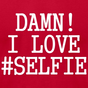 DAMN! I LOVE #SELFIE T-Shirts - Men's T-Shirt by American Apparel