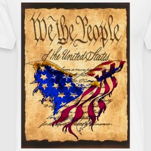 We The People American Eagle Design T-shirt White - Men's Premium T-Shirt
