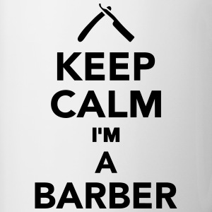 Keep calm I'm a Barber Bottles & Mugs - Contrast Coffee Mug