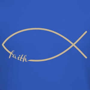 Faith Fish/Jesus Fish Crew Neck Sweatshirt - Crewneck Sweatshirt