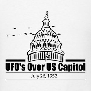 UFOs Over The US Capitol 1952 - Men's T-Shirt