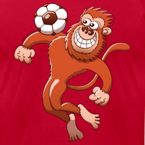 Monkey Trapping a Soccer Ball with its Chest T-Shirts - Men's T-Shirt by American Apparel