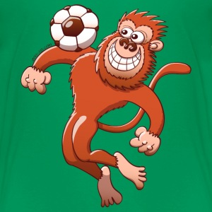 Monkey Trapping a Soccer Ball with its Chest Baby & Toddler Shirts - Toddler Premium T-Shirt