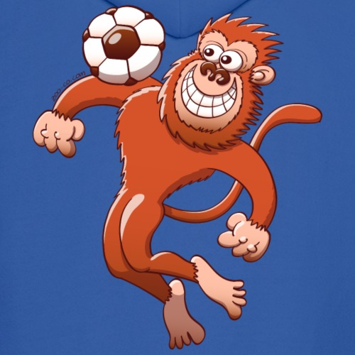 Monkey Trapping a Soccer Ball with its Chest