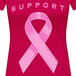 Pink Awareness Ribbon Women's T-Shirts - Women's Premium T-Shirt