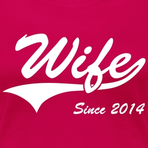 Wife Since 2014 Women's T-Shirts - Women's Premium T-Shirt
